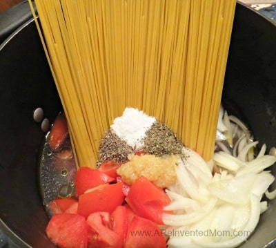 One Pot Pasta |A Reinvented Mom
