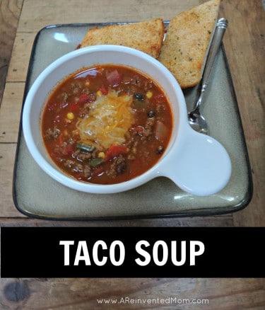 Taco Soup | A Reinvented Mom
