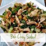 Bok Choy Salad with Ginger Sesame Soy Dressing- Feature w-Title | www.AReinventedMom.com