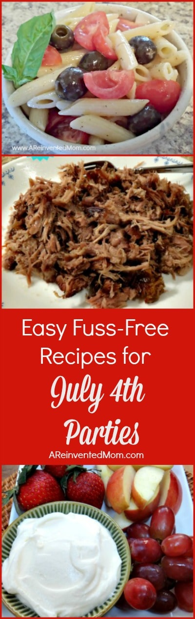 July 4th Recipe Round-Up Pin | A Reinvented Mom