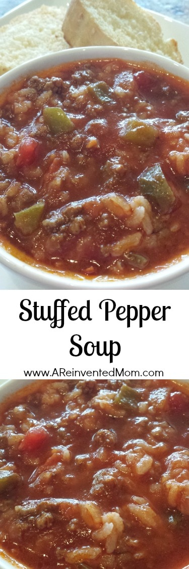 Stuffed Pepper Soup | A Reinvented Mom