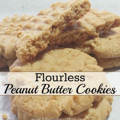 Flourless Peanut Butter Cookies | A Reinvented Mom