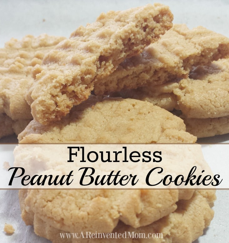 Flourless Peanut Butter Cookies | A Reinvented Mom
