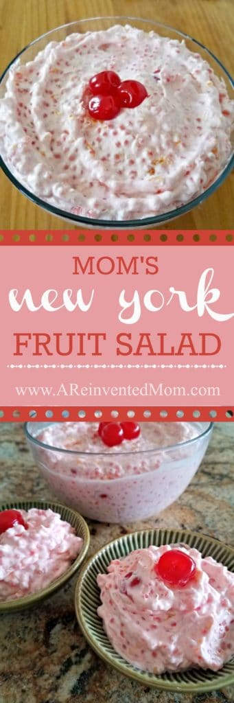 Equal parts sweet & savory, this side dish pairs well with any meal. Mom's Creamy New York Fruit Salad - A Reinvented Mom