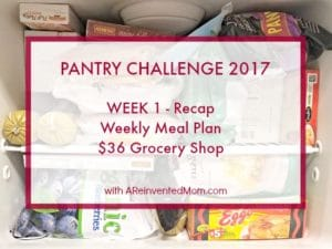 Pantry Challenge 2017 – Week 1 Recap