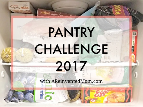 Pantry Challenge 2017 with Free Printable - Save a little coin and reduce waste by using food from your pantry, refrigerator & freezer. www.AReinventedMom.com