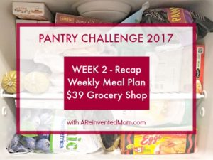 Pantry Challenge 2017 – Week 2 Recap