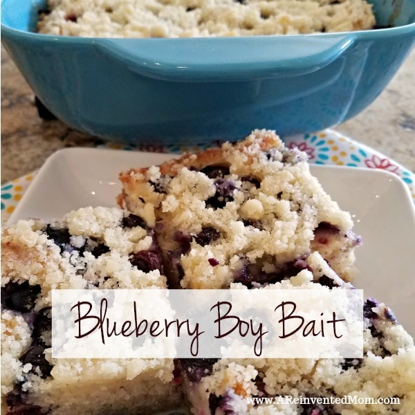 Blueberry Boy Bait is a pan of buttery goodness loaded with sweet, juicy blueberries. | A Reinvented Mom