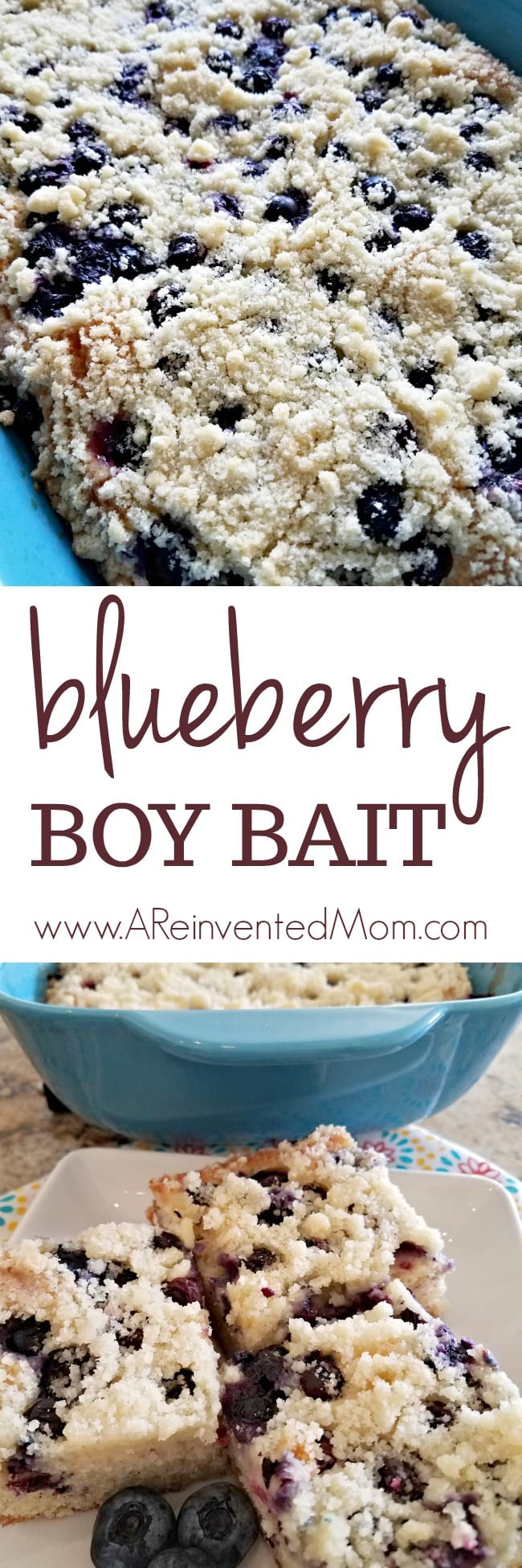 Blueberry Boy Bait is a pan of buttery goodness packed with juicy blueberries | A Reinvented Mom