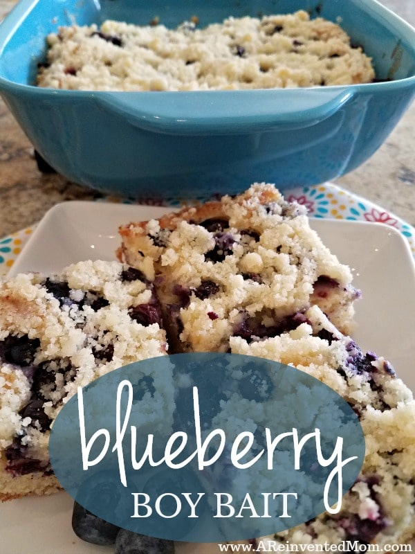 Buttery goodness loaded with sweet blueberries & a delightful name - Blueberry Boy Bait | A Reinvented Mom
