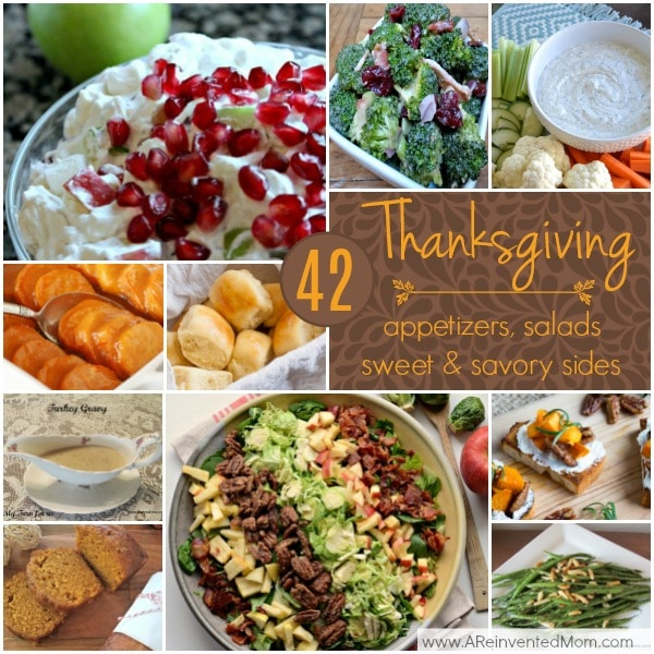 42 Easy Thanksgiving Side Dishes | A Reinvented Mom