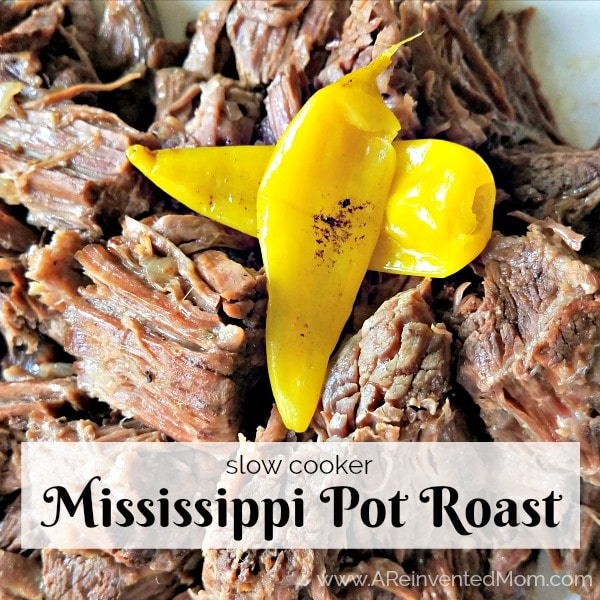BEST roast ever!! Slow Cooker Mississippi Pot Roast | www.AReinventedMom.com