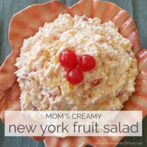 Mom's Creamy New York Fruit Salad - feature | A Reinvented Mom