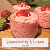 Sweet strawberries paired with a creamy vanilla base for an easy make-ahead dish. www.AReinventedMom.com