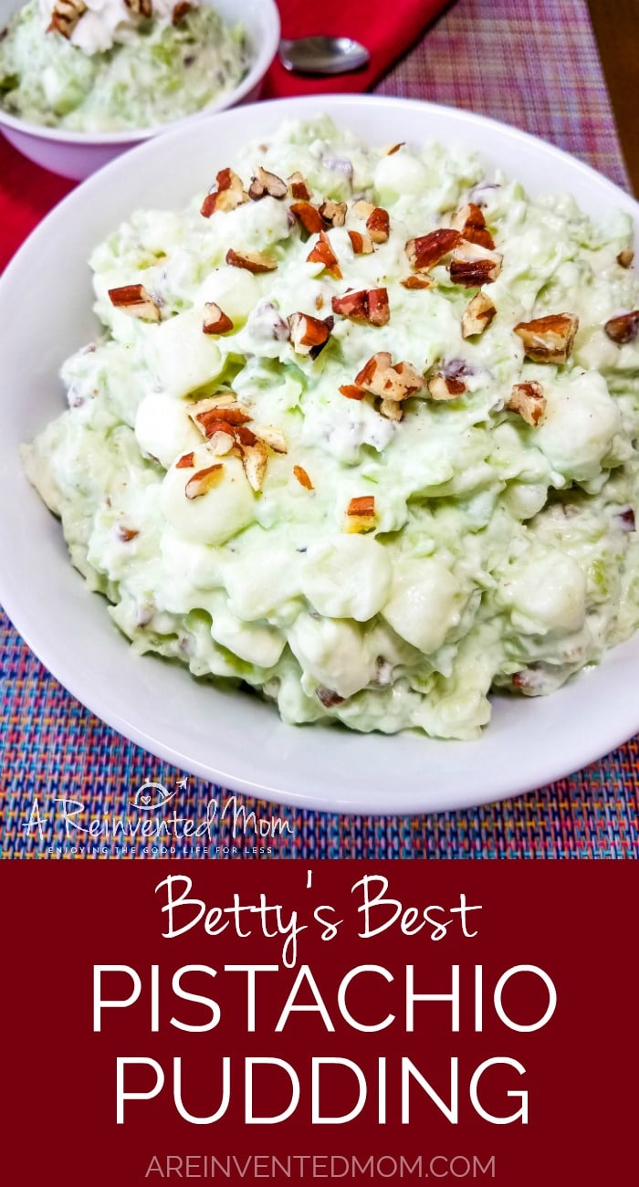 Betty's Best Pistachio Pudding Pin | A Reinvented Mom