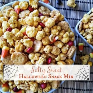 Salty Sweet Halloween Snack Mix Feature | A Reinvented Mom