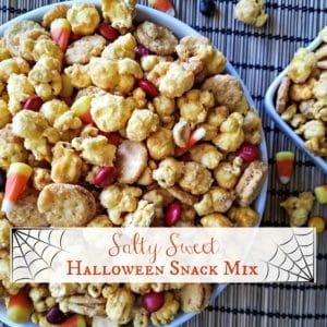 Salty Sweet Halloween Snack Mix