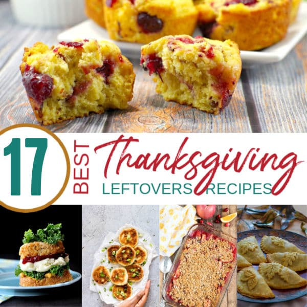 Collage of 5 dishes using Thanksgiving Leftovers | A Reinvented Mom