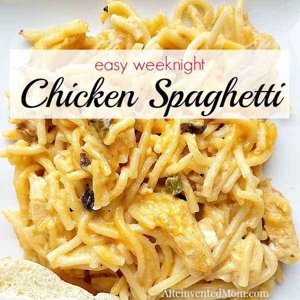 Comfort food on a weeknight - Easy Chicken Spaghetti | A Reinvented Mom