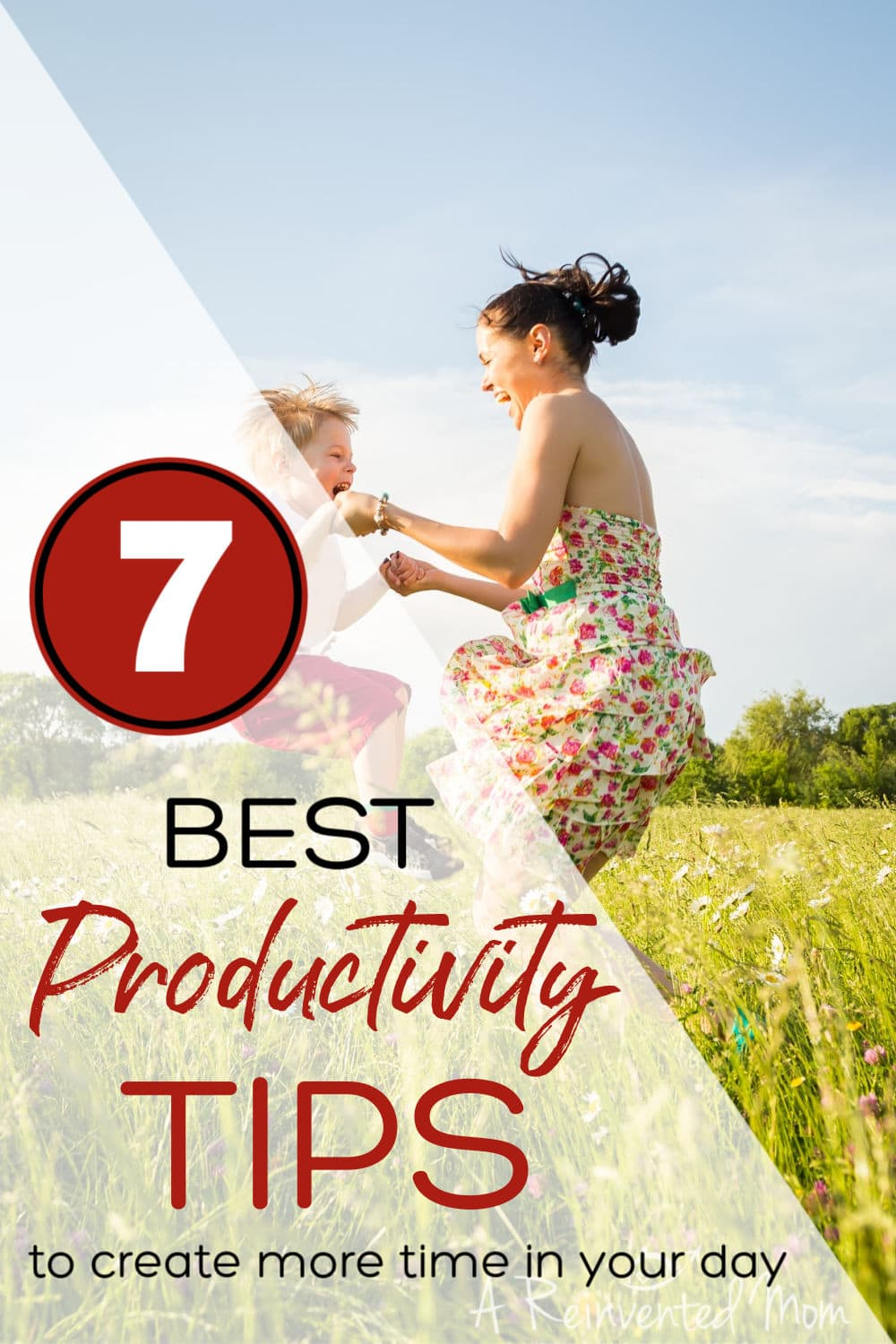 Find free time in your day with my BEST Productivity tips | A Reinvented Mom #productivity #momlife #timemanagement #areinventedmom