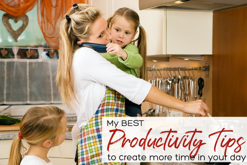 BEST Productivity Tips | A Reinvented Mom #productivitytips #savetime