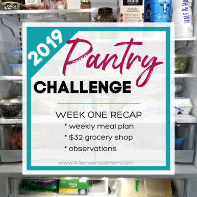 Pantry Challenge 2019 Week One Recap
