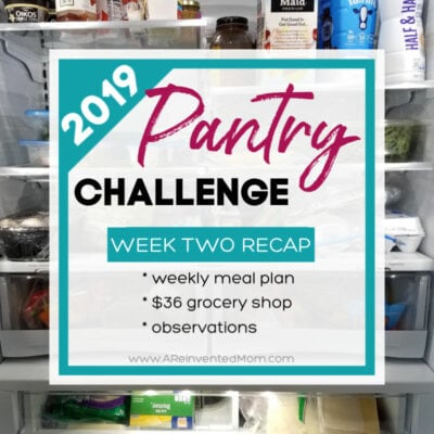 Pantry Challenge 2019 Week Two Recap