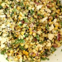Mexican Grilled Corn Salad with Citrus Aioli