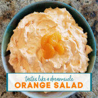 Bowl of Orange Salad | A Reinvented Mom #jellosalad