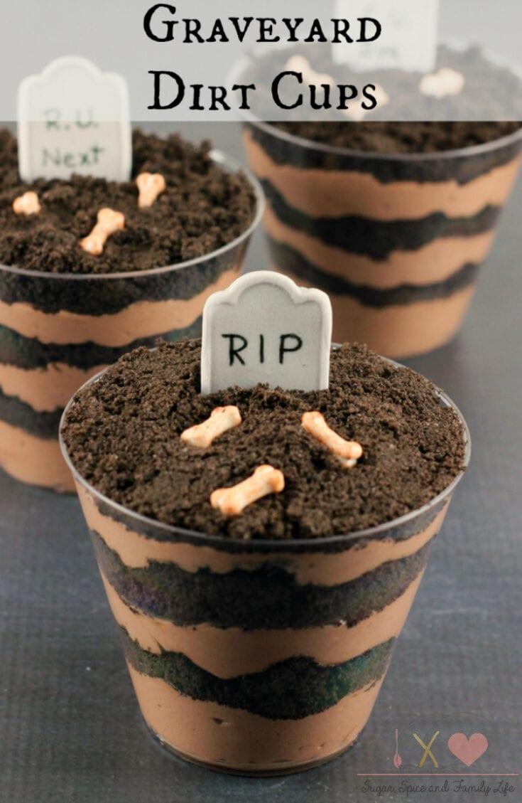 Graveyard Dirt Cake Cups Recipe