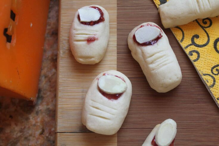 Trolls' Toes Cookies and Witches' Fingers for Halloween