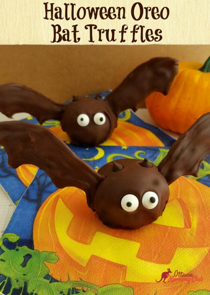Halloween Oreo Bat Truffles Recipe