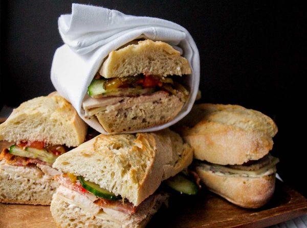 The Best Leftover Turkey Club Sub Sandwich