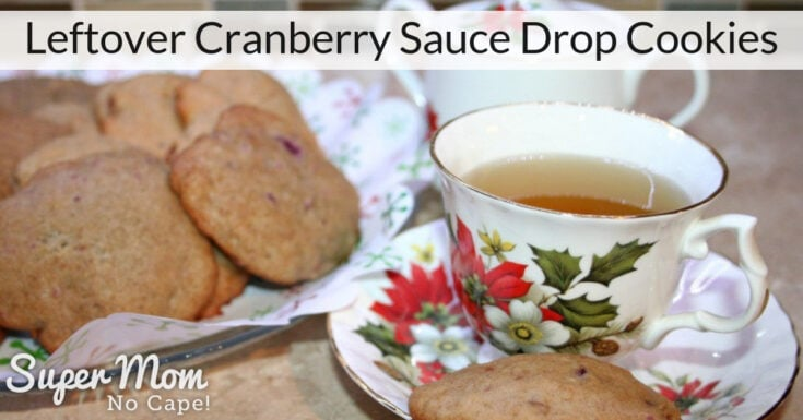 Leftover Cranberry Sauce Drop Cookies