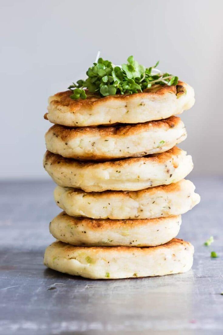 Potato Pancakes with Leftover Mashed Potatoes {7 Ingredients, GF}