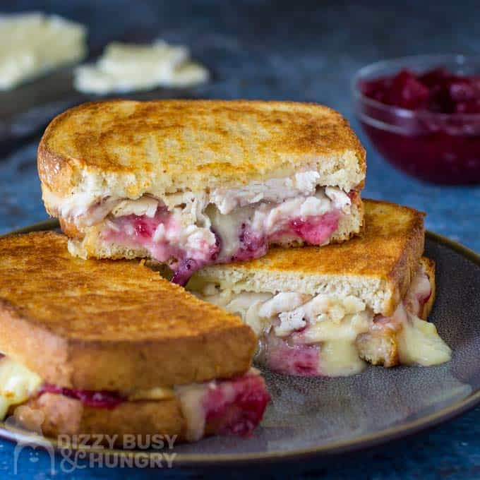Brie Grilled Cheese with Turkey (great for leftover turkey!)