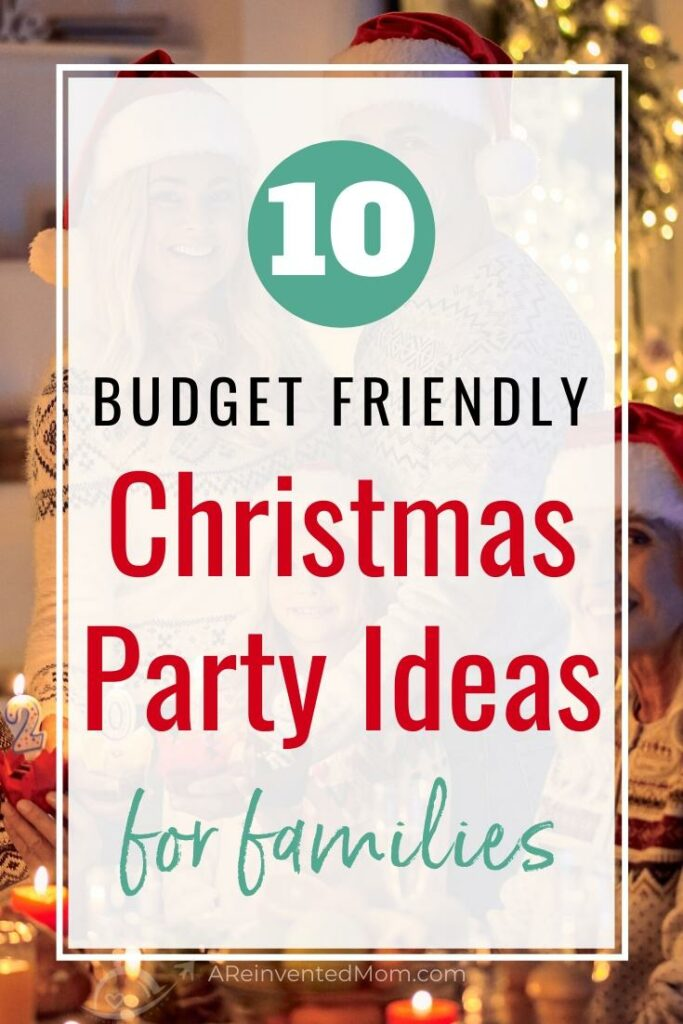 Family celebrating Christmas with fun party ideas | A Reinvented Mom
