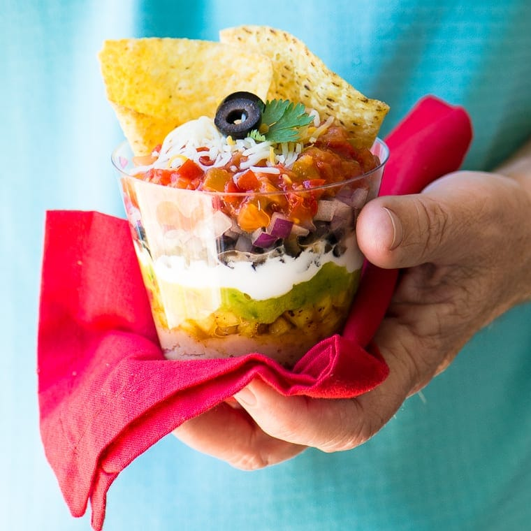 Mexican 7 Layer Dip Cups