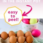 Peeled instant pot hard boiled eggs with graphic overlay | A Reinvented Mom