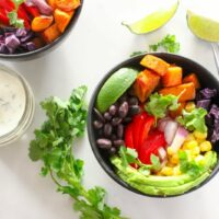 Mexican Buddha Bowl with Cilantro Lime Sauce