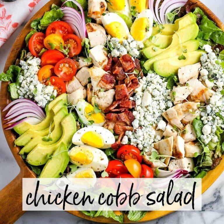 Chicken Cobb Salad {with Homemade Vinaigrette}