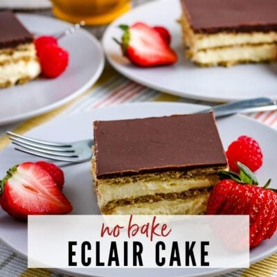 No Bake Eclair Cake {Homemade Glaze}