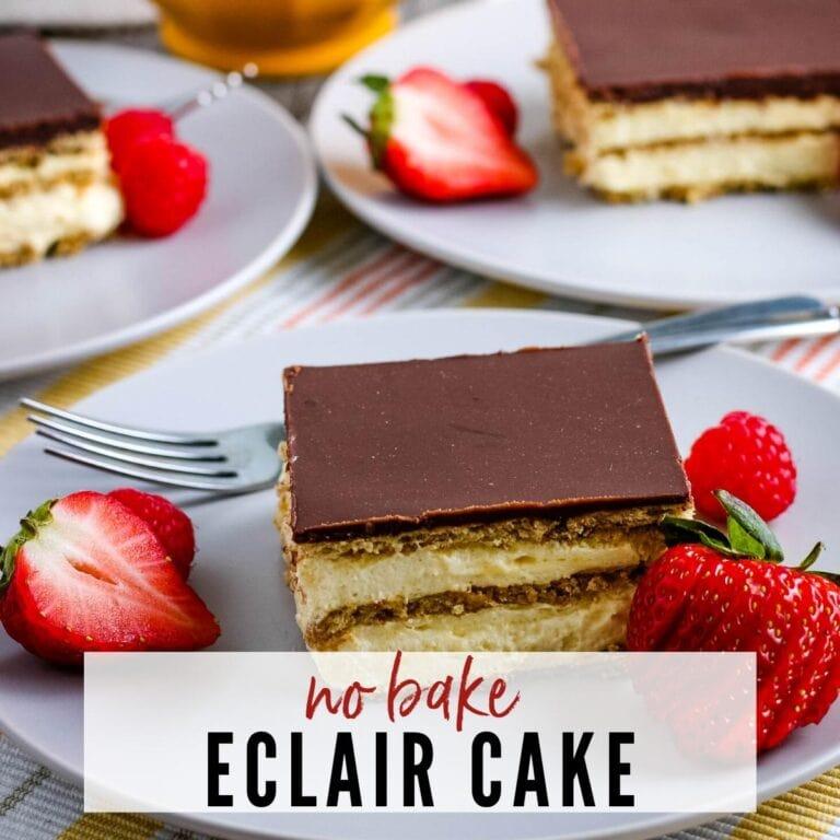No Bake Eclair Cake {Homemade Glaze}