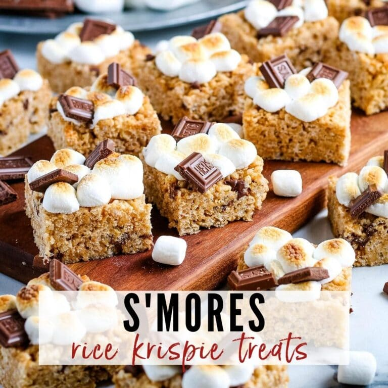 S'mores Rice Krispie Treats {No Bake}