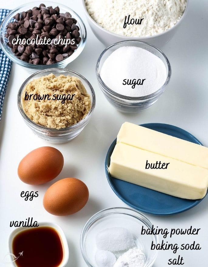 ingredients needed to make a cookie skillet