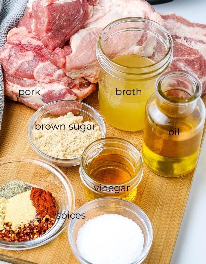 ingredients for pressure cooker pulled pork