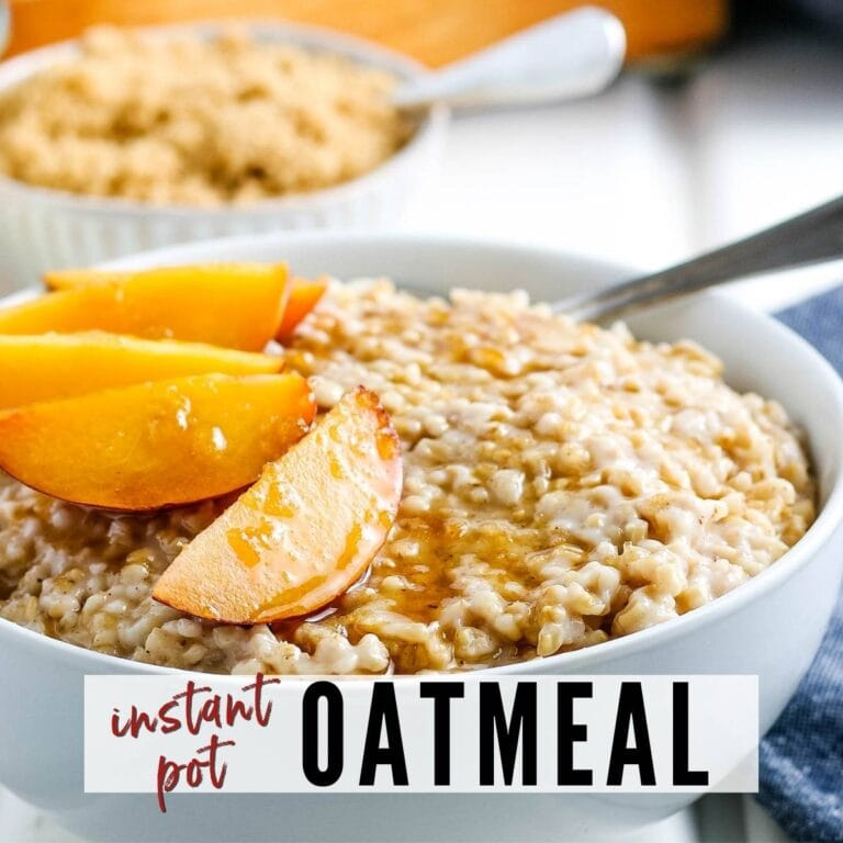 The BEST Instant Pot Oatmeal
