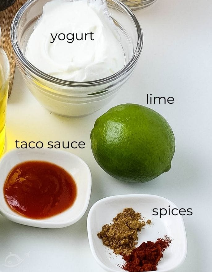 ingredients labeled for southwest dressing