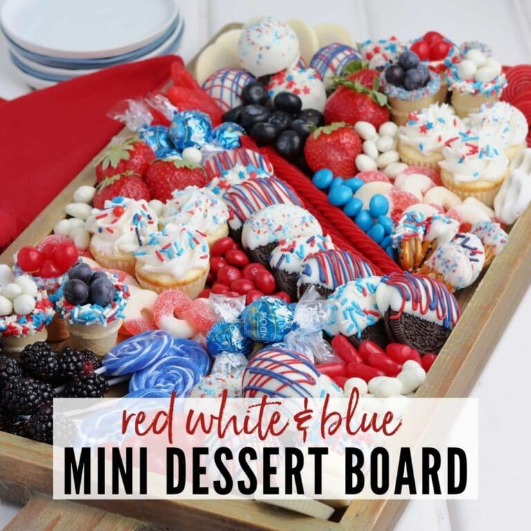 Red White and Blue Charcuterie Board (Desserts)