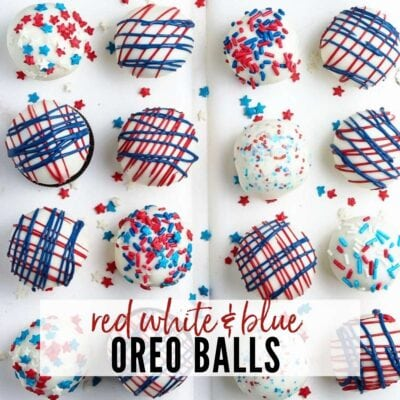 Red White and Blue Oreo Balls